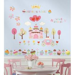 New CUPCAKE LAND 56 Wall Stickers Princess Castle Decals