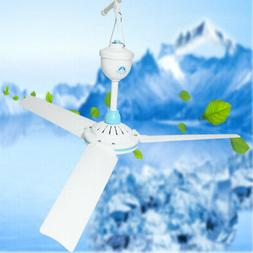 DC 12V Low-voltage Ceiling Hanging Fan Household Camping Ele