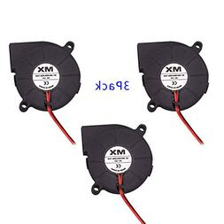 3pcs DC12V 2 Pin Connector Bearing Cooling Blower Fan 50mmx1