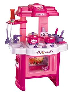 "Deluxe Beauty Kitchen Appliance Cooking Play Set 24"" w/ Lig"