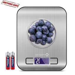 Digital Kitchen Scale Stainless Steel Glass Food Postal 11lb