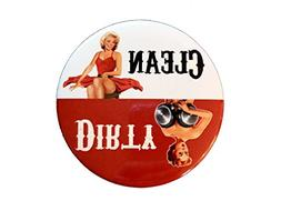 Dirty Girl Dish Washer Magnet - Clean & Dirty Indicator Magn