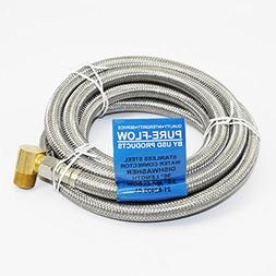 Universal Dishwasher 8' SS lnstallation Water Supply Line 90