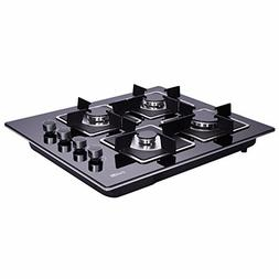 DeliKit DK145-A02S 24 inch gas cooktop gas hob 4 Burners LPG