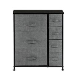 Dresser With 7 Drawers Furniture Storage Tower Unit With Bin