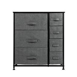 Dresser With 7 Drawers  Furniture Storage Tower Unit For Bed