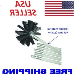 Dryer Duct Cleaning Kit 12' Clear Clean Flexible Cleaner Rem