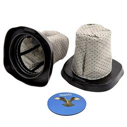 HQRP 2-pack Dust Cup Filter for Dirt Devil F25 F-25 2SV11020