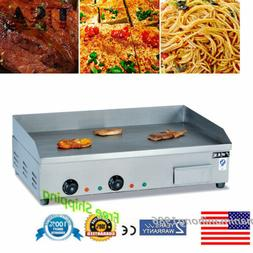 Electric Commercial Restaurant Flat Griddle Countertop Stove
