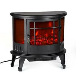 Electric Fireplace Heater Portable TV Stand Small Space Home