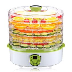 Electric Food Dehydrator, PowerDoF FD280B 5 Adjustable Tray