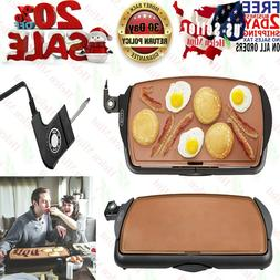 Electric Griddle Nonstick Plate Kitchen Cooking Food Pancake
