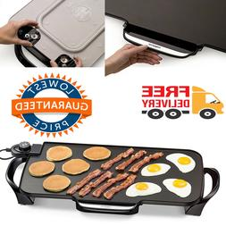 Electric Grill Griddle Removable Handles Nonstick Extra Larg