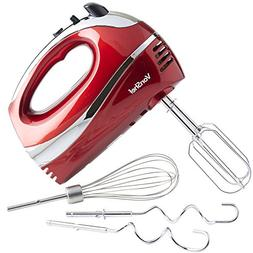 VonShef Electric Hand Mixer Whisk With Stainless Steel Attac