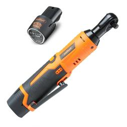 """Electric Ratchet Cordless 3/8"""" 1/4"""" Wrench Set with Battery"""