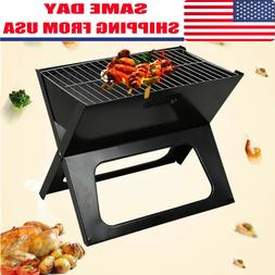 Foldable Compact Charcoal Barbecue BBQ Grill Outdoor Camping