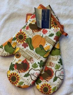 four-piece set kitchen set - Pot Holders and Oven Mitts