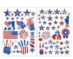 jollylife 4th/Fourth of July Window Clings Decorations - Pat