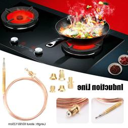 Gas Stove Kit Adaptor Thermocouple Exhaust Probe High Temper