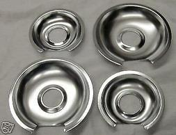 GB3 For GE Range Burner Drip Pans 2 WB32X10012 2 WB32X10013