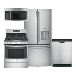 GE 4-Piece Stainless Steel Kitchen Package GFE24JSKSS 33 Fre