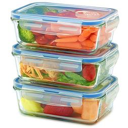 Glass Meal Prep Containers - Food Storage To Go for Home & K