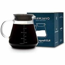 Glass Serveware Range Coffee Server For Pour Over &amp Tea -