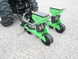 Green Earth 2-Row Precision Vacuum Planter: Tractor 3-Point,