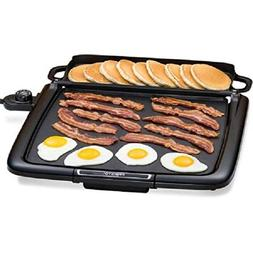 Griddle With Warming Tray Electric Table Grill BBQ Nonstick