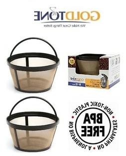 2 Pack Mr. Coffee Gtf2-1 Basket-style Gold Tone Permanent Fi