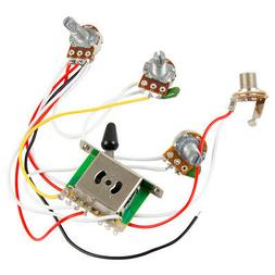 Guitar Wiring Harness Kit 5 Way Switch 1V2T 500k Pots for Fe