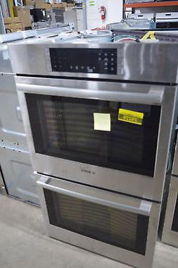 "Bosch HBL8651UC 30"" Stainless Double Electric Wall Oven NOB"