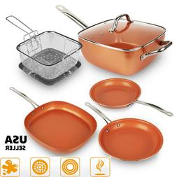 Healthy Non Stick Copper Induction Bottom Frying Pan Kitchen