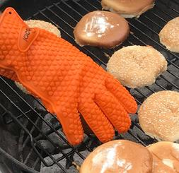 Heat Resistant Barbecue Silicone Glove Oven Grilling BBQ Coo