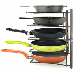 Heavy Duty Kitchen Cabinet Cookware Organizer Rack for Pans