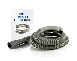 6ft Heavy-Duty Washing Machine Drain Hose With Clamp - Indus