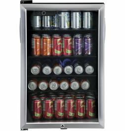 Haier HEBF100BXS Wine & Beverage Center, Small, Stainless St