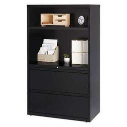 """HIRSH 16778 36"""" Wide Combo Lateral File Cabinet, 2 Drawer wi"""