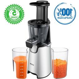 Aicok Juicer Slow Masticating Juicer, Juice Extractor With 1