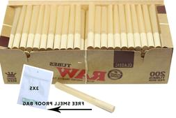 Raw King Size Empty Cigarette Tubes 200 Count Rolling Tobacc