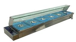 "67"" Kitchen 6-Pan Food Warmer Bain Marie Restaurant Steam Ta"