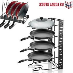 Kitchen Cabinet Pan and Pot Lid Organizer Rack Storage Holde