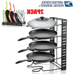 Kitchen Cabinet Pantry Pan Storage and Pot Lid Organizer Coo