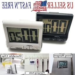 Kitchen Cooking Timer Count-Down Up Large LCD Digital Clock