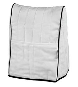 KitchenAid Stand Mixer Appliance Cover White Quilted Fabric