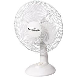 "Brentwood KoolZone F-12DW 12"" Oscillating Desk Fan"