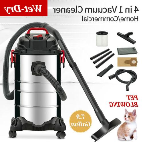 Portable 8 Gallon 4-in-1 Wet Dry Vacuum Cleaner Vac Shop 3.5