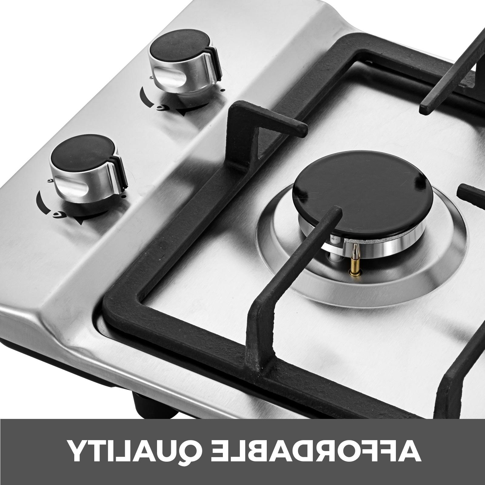 """12"""" 2 Gas Cooktop Stainless iron grates"""