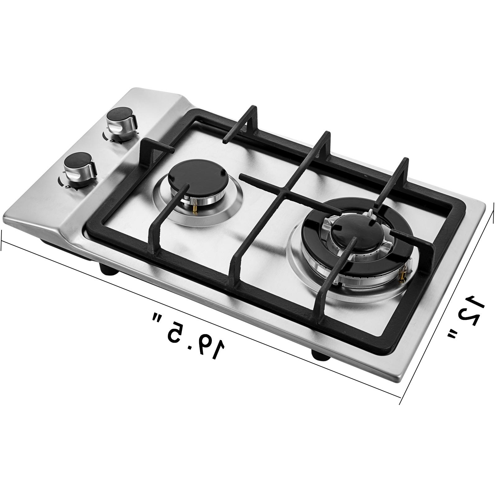 """12"""" Burners Cooktop Stainless grates Electric Ignite"""