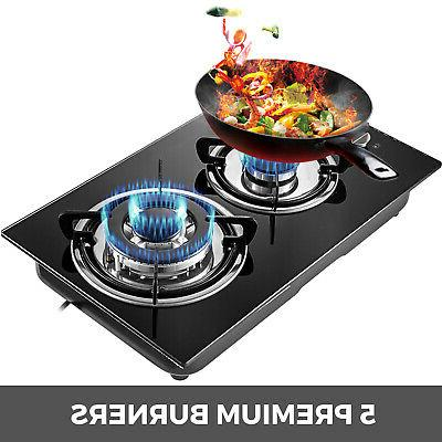 "12"" Glass Gas Ceramic Built-In Stove"